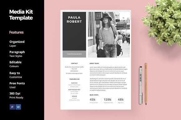 paul robert media kit template