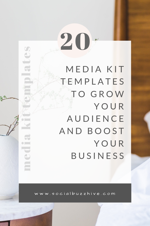 20 media kit templates to boost your business