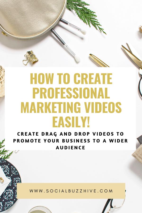 create easy marketing videos like the pros