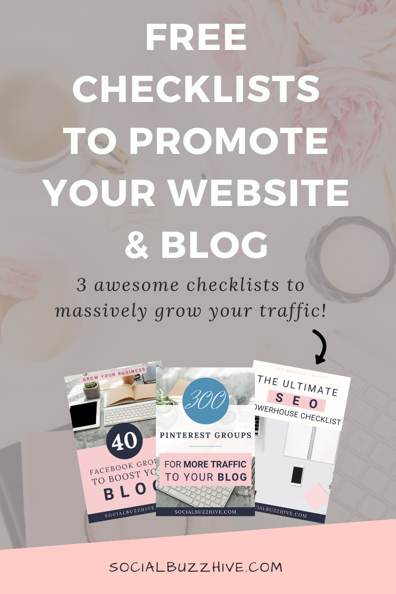 free checklists to promote your website and blog