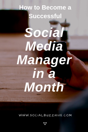 social media manager in a month