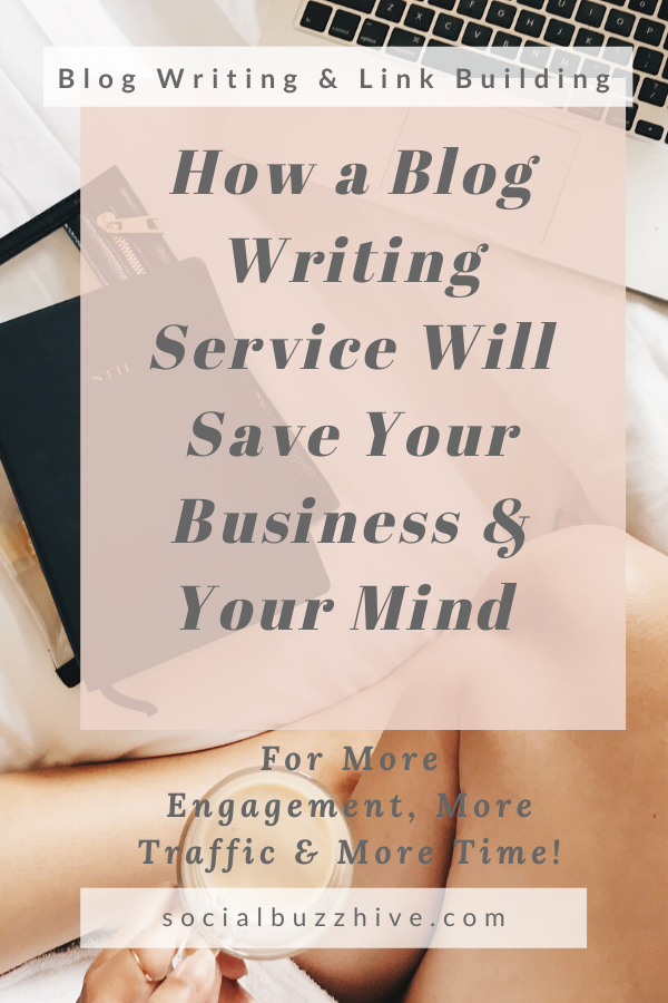 how a blog service will save your business and your mind