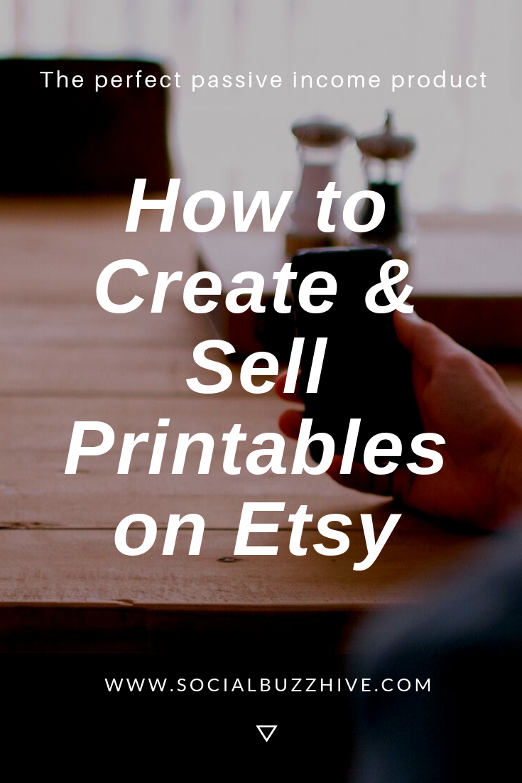 create and sell printables on etsy