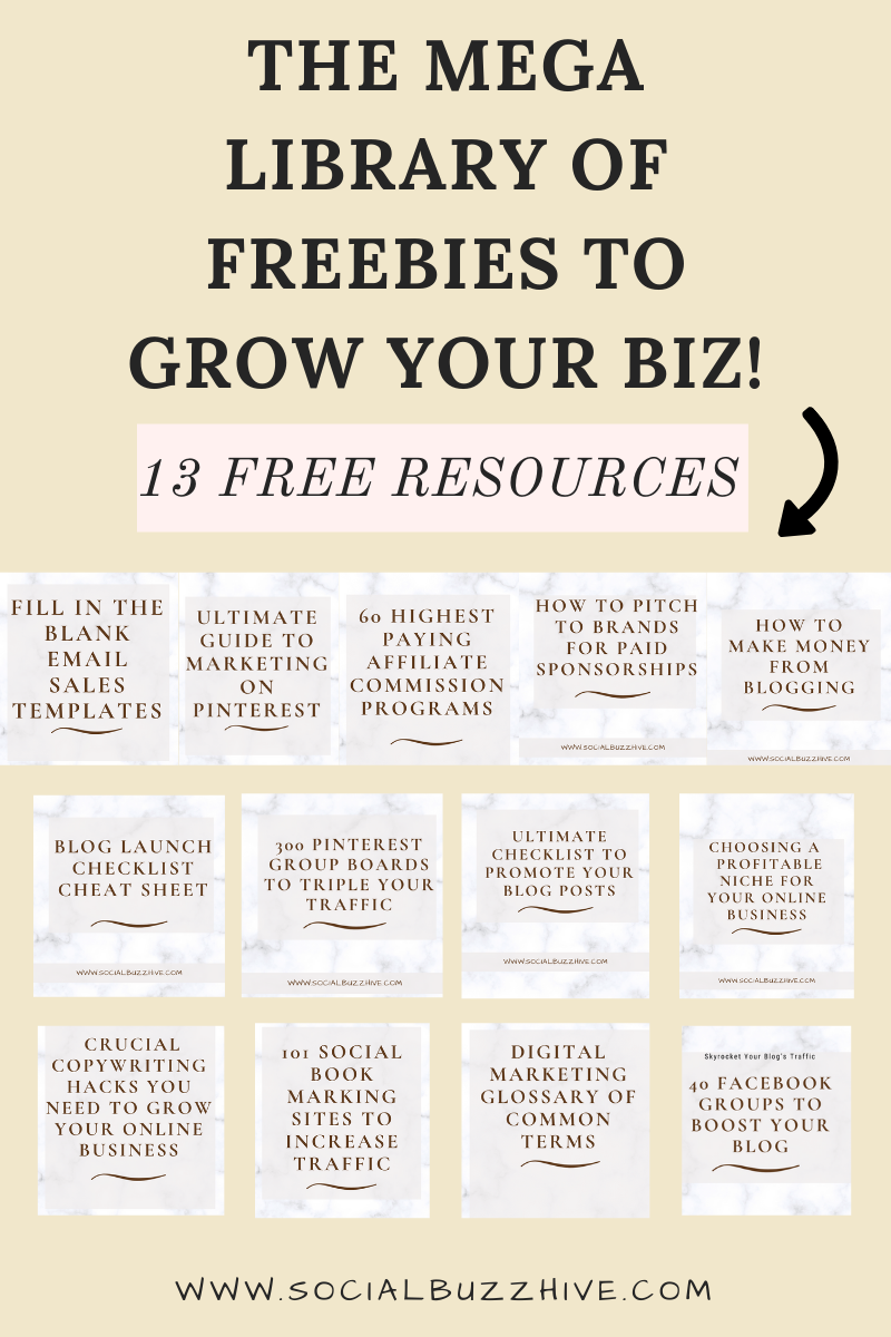 mega library of freebies to grow your blog