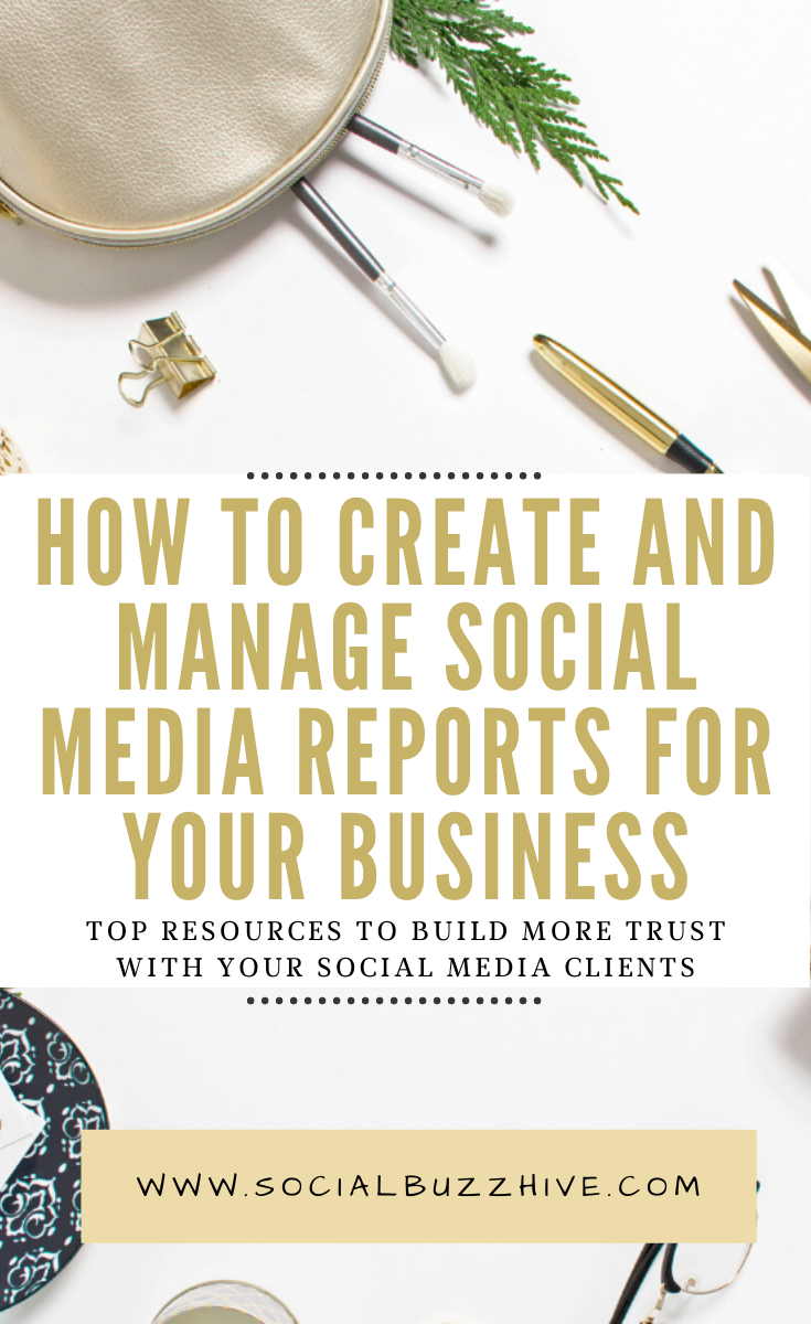 how to create and manage social media reports