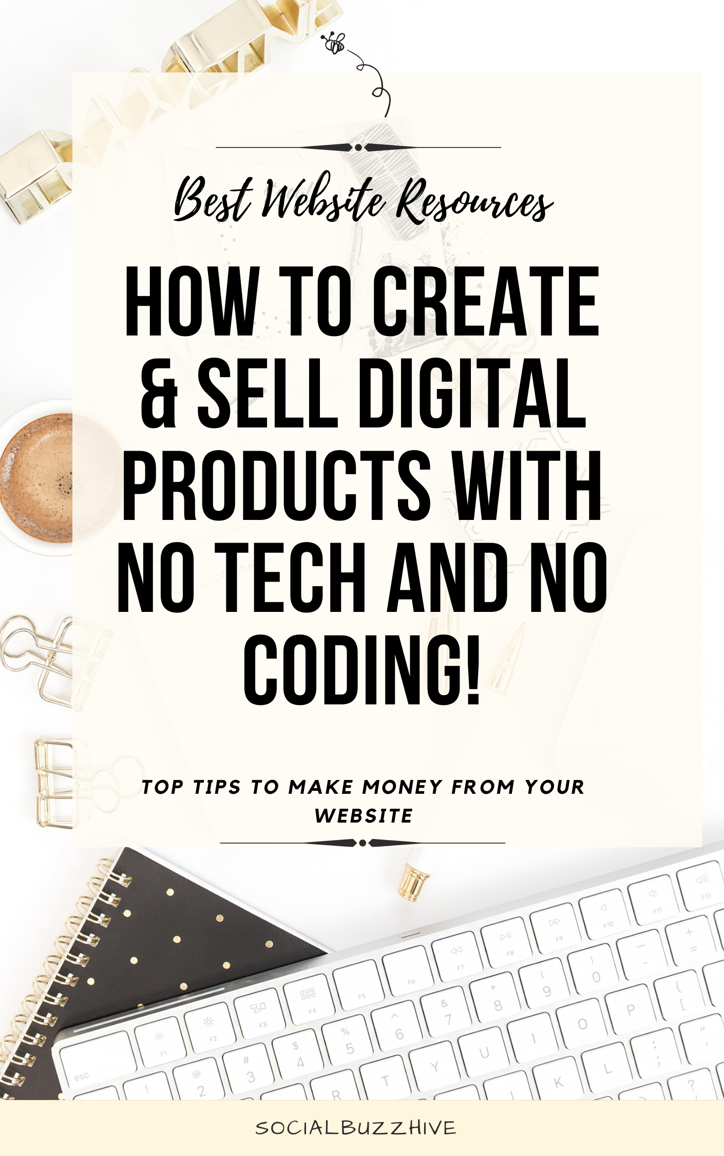 how to create and sell digital products with no tech