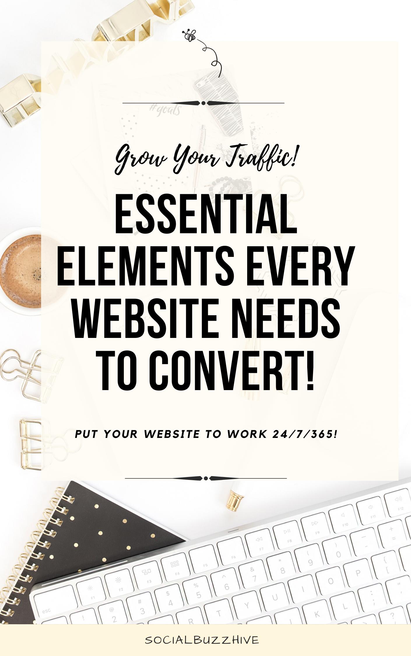 essential elements every website needs
