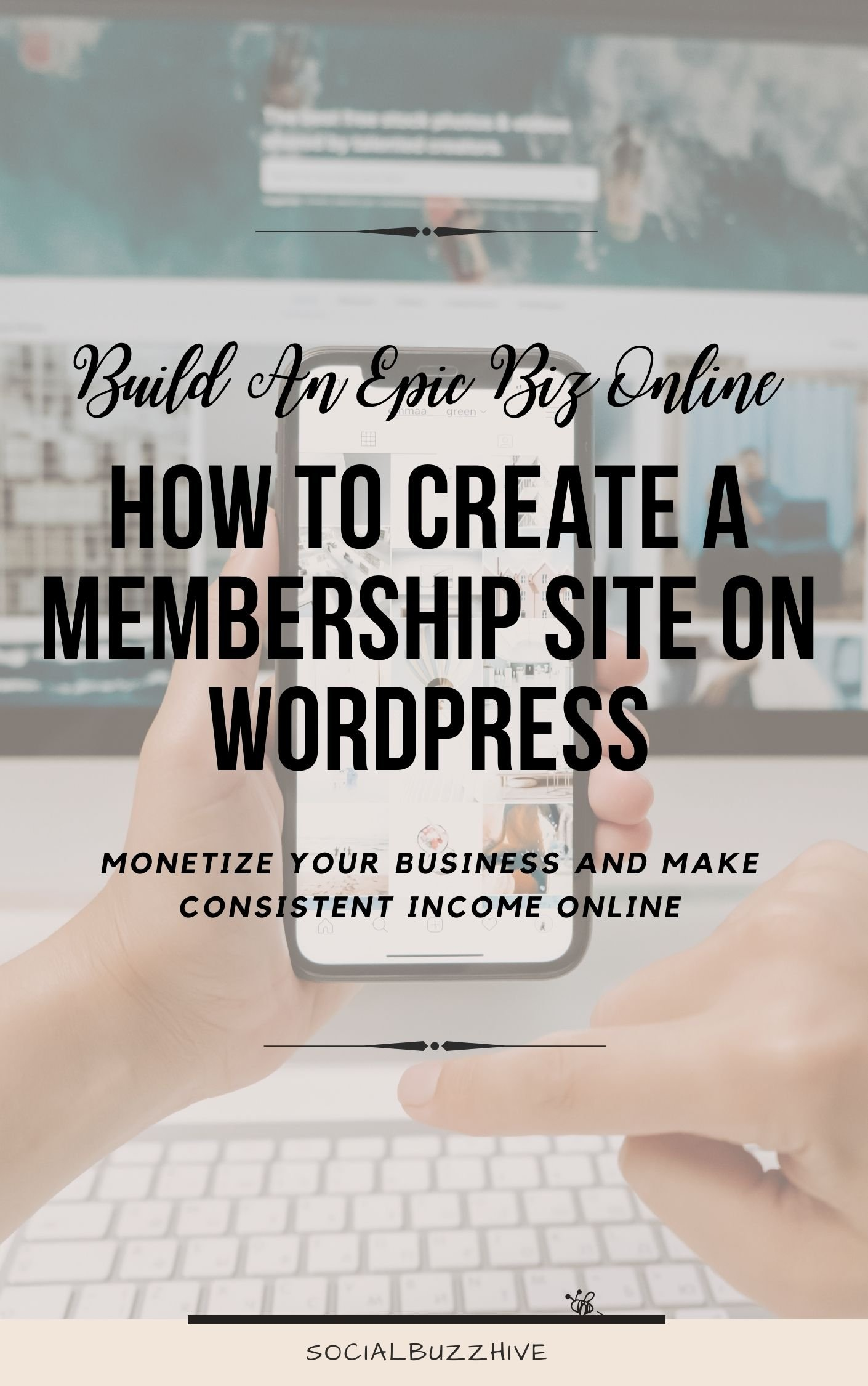 create a wordpress membership site