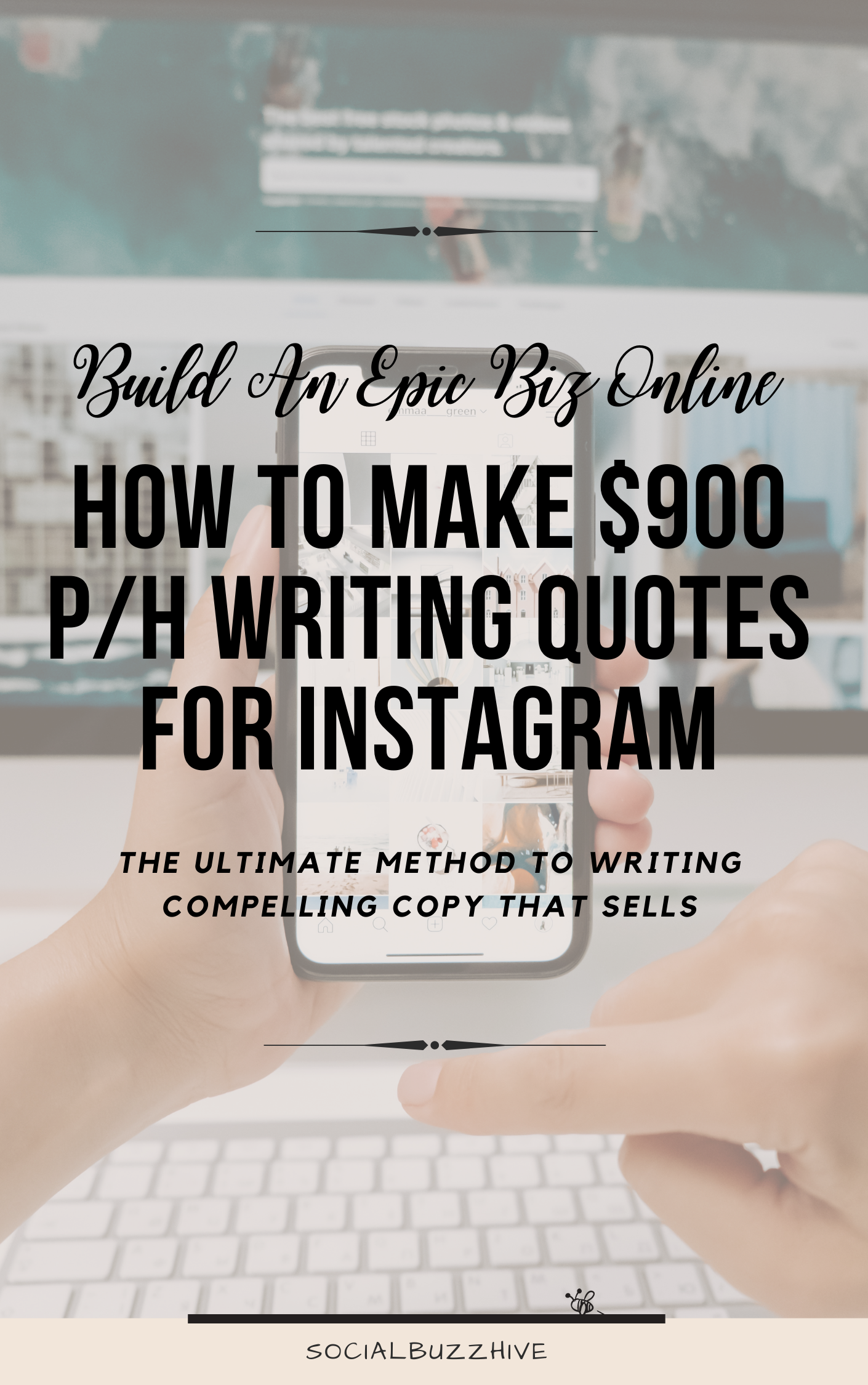 how to make $900 per hour writing for instagram