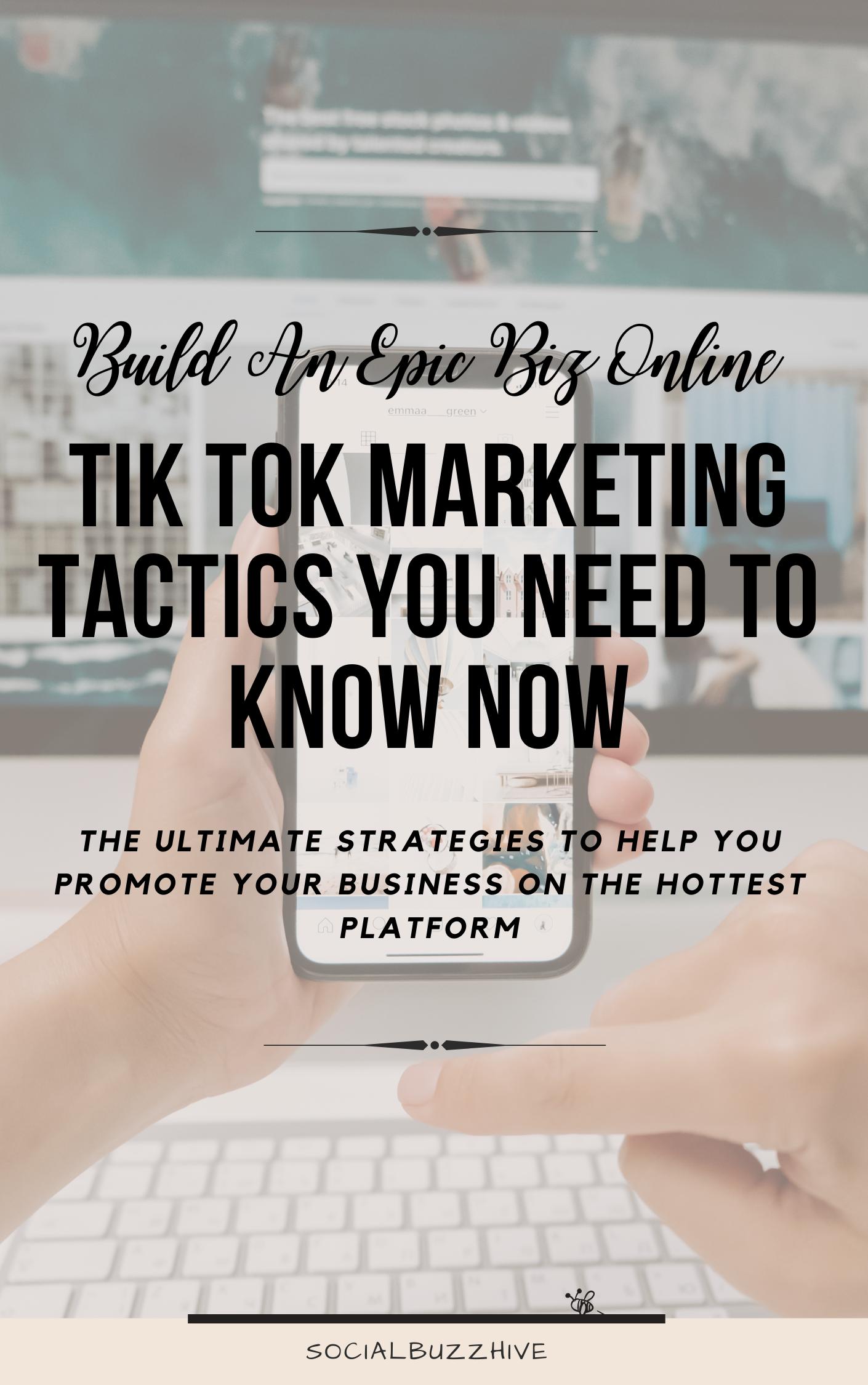 tik tok marketing tactics