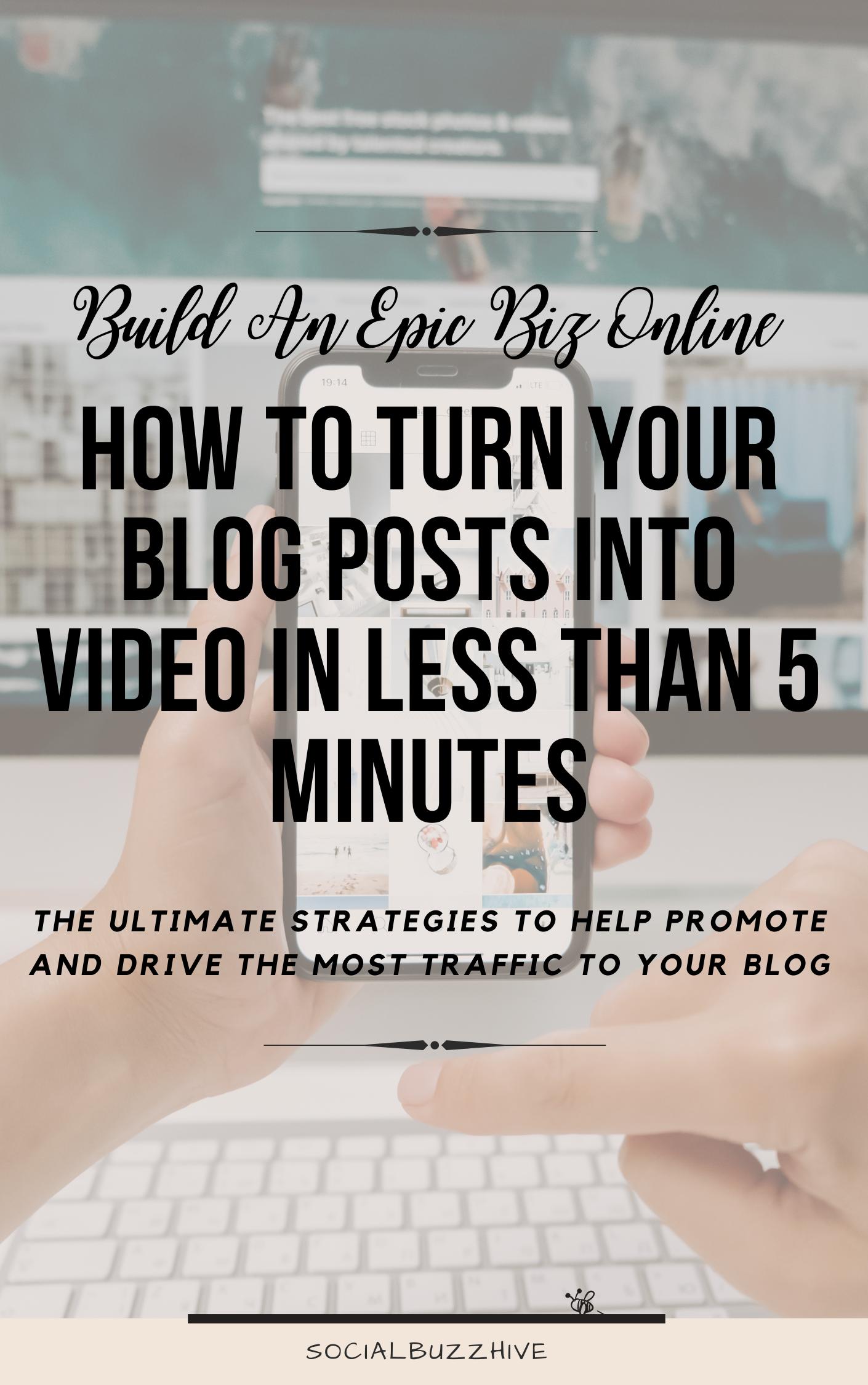 turn blog posts into video