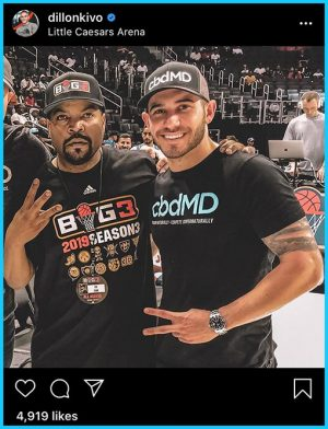 Dillon Kivo Authority Titans and rapper Ice Cube